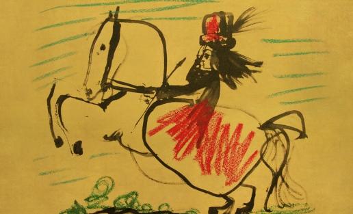 Equitación, descripción de Diego Velazquez (1634), abstracción y reinterpretación de_8746791851_l